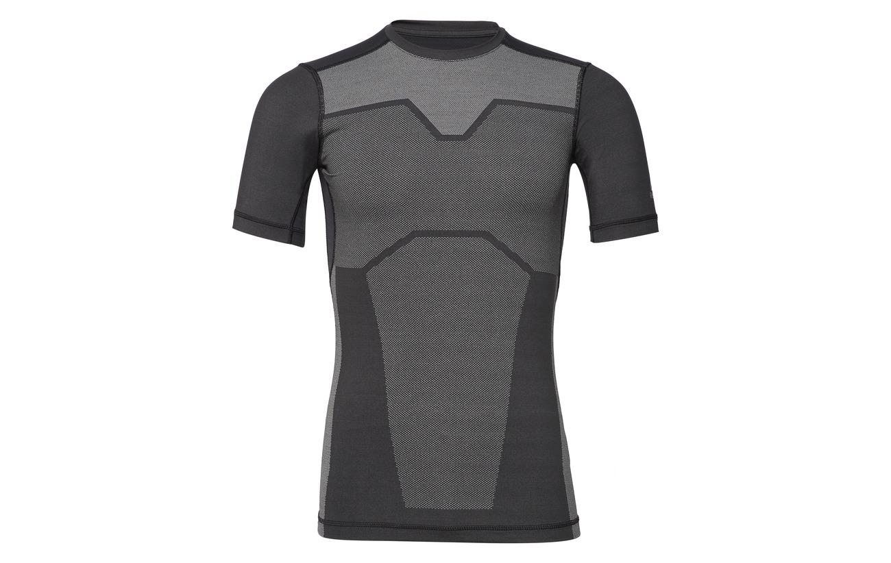 Reebok Polyester Ac Black Vent Elastane 13 87 Comp Tee BYBZpxwqr