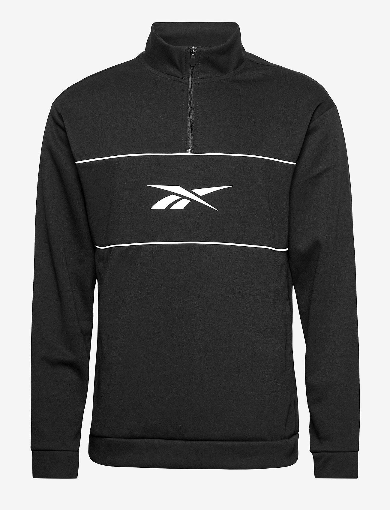 Reebok Performance - WOR DBLKNT QZ - sweaters - black - 1