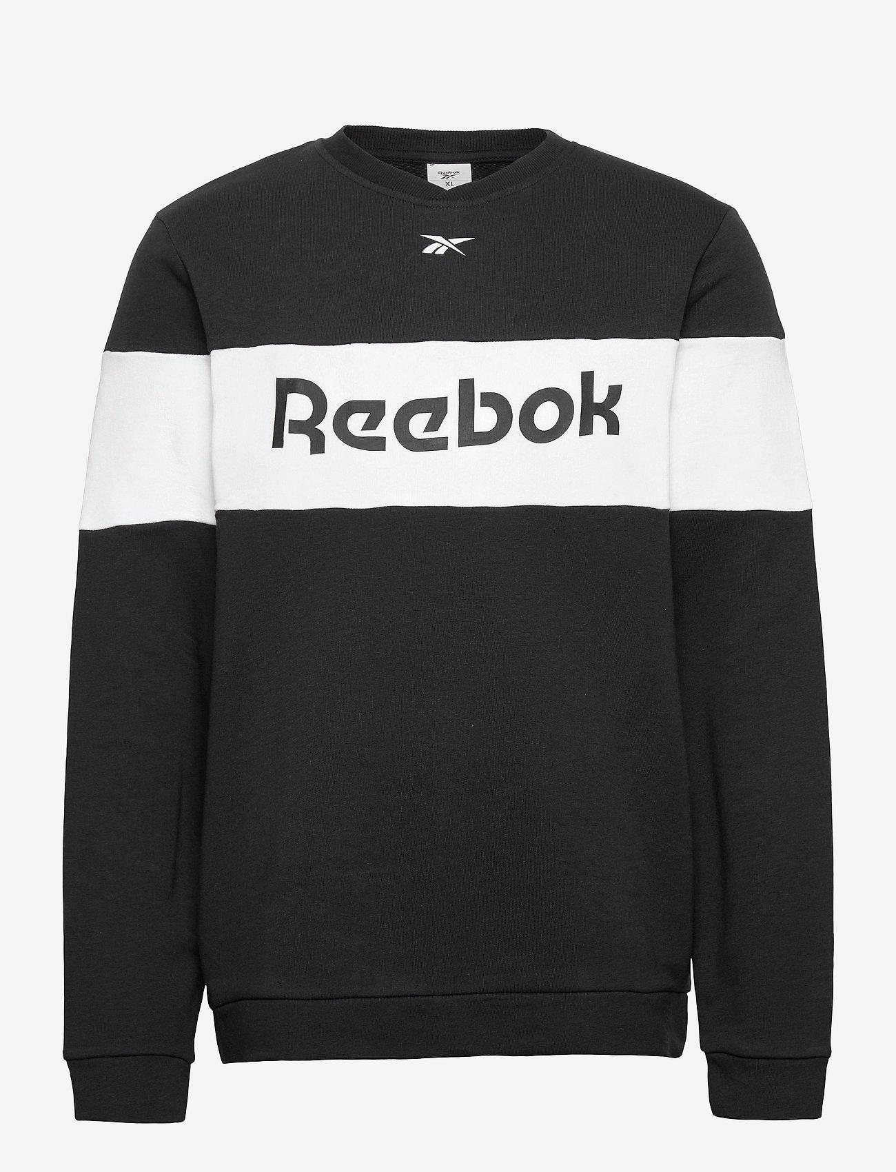 Reebok Performance - Training Essentials Linear Logo Crew Sweatshirt - sweaters - black - 1
