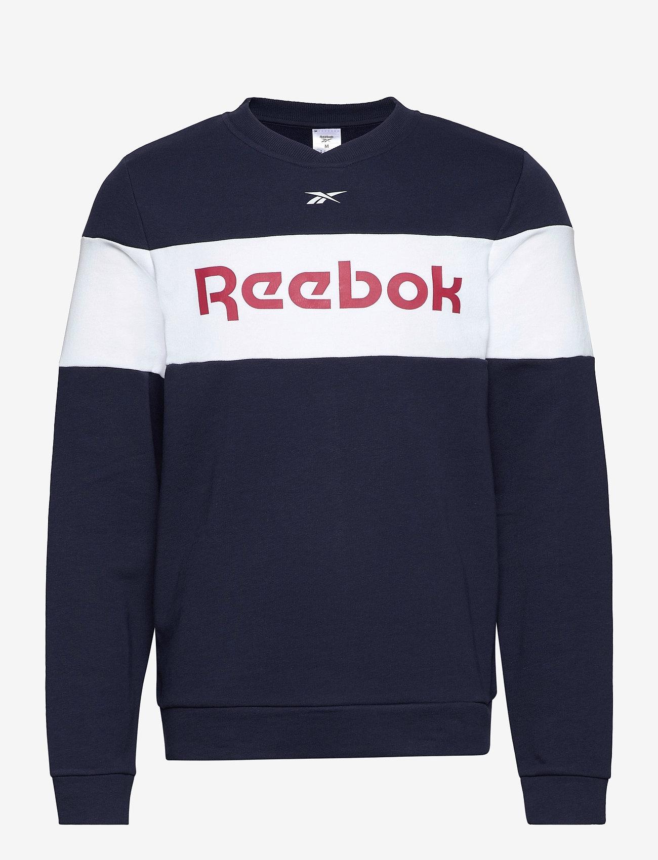 Reebok Performance - Training Essentials Linear Logo Crew Sweatshirt - sweaters - vecnav - 1