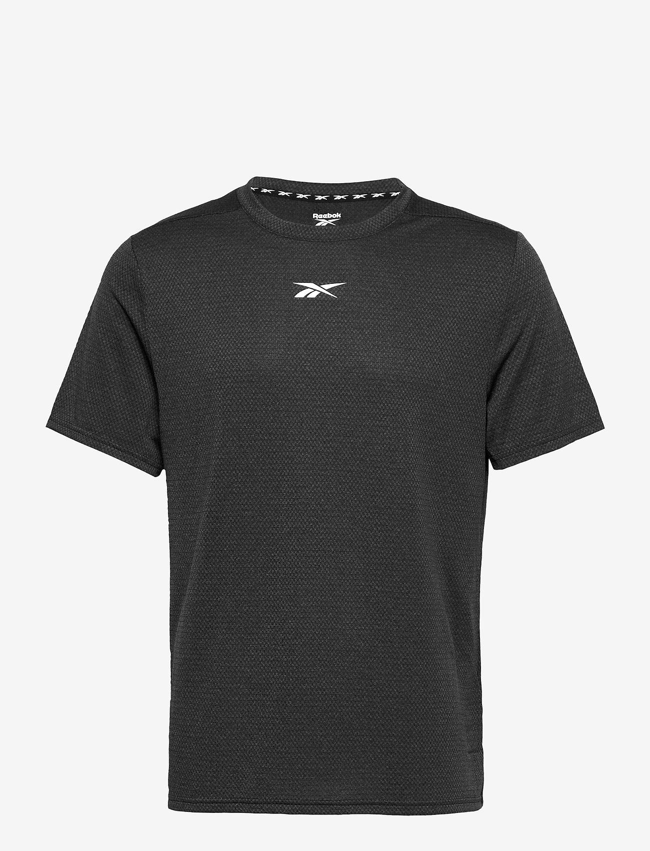 Reebok Performance - Workout Ready Mélange T-Shirt - t-shirts - black - 0