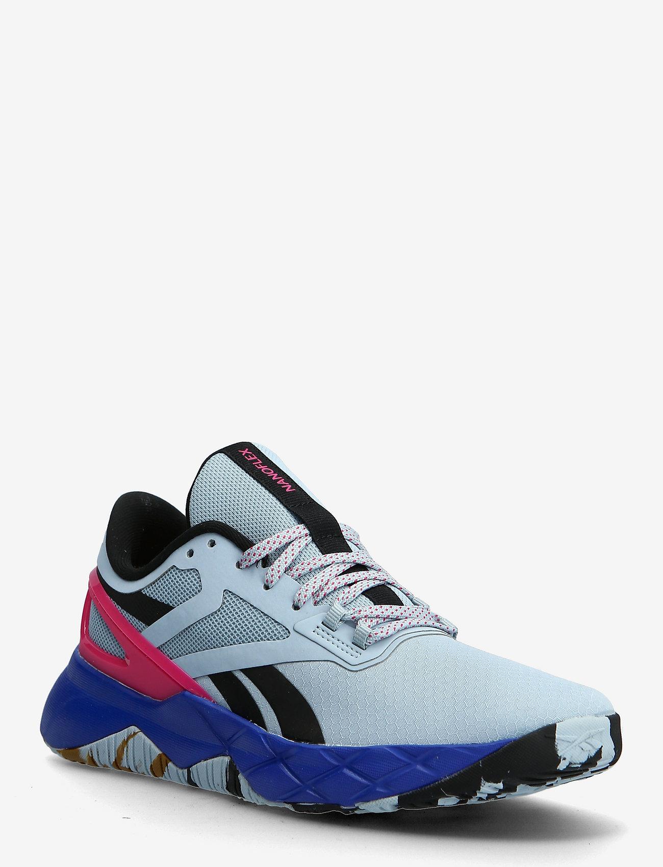 Reebok Performance - NANOFLEX TR - training schoenen - gabgry/cblack/purpnk - 0