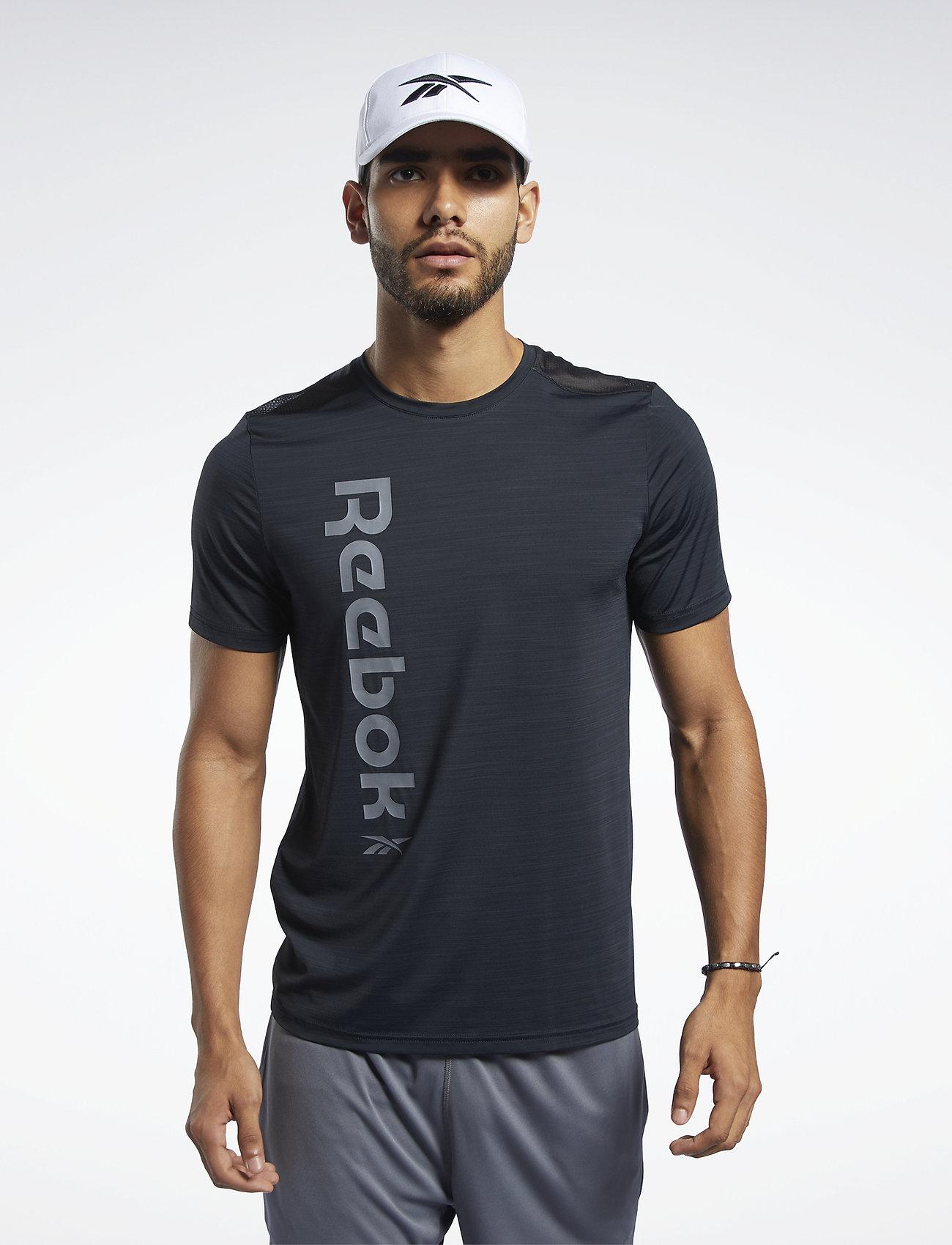 Reebok Performance WOR AC GRAPHIC SS Q1 - T-shirts BLACK eR5beMhy