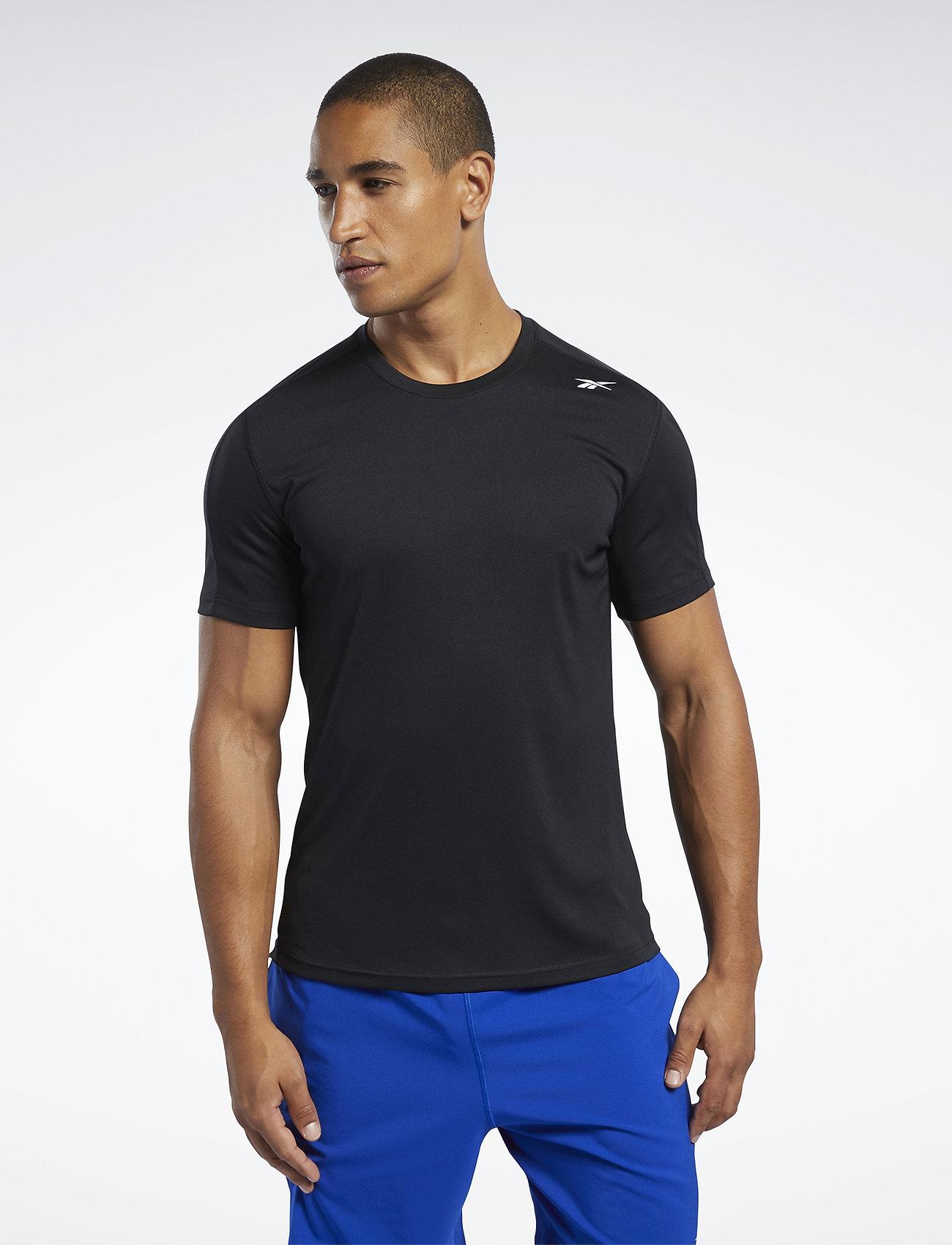 Reebok Performance WOR COMM SS TECH TEE - T-shirts BLACK sN4j96Bz