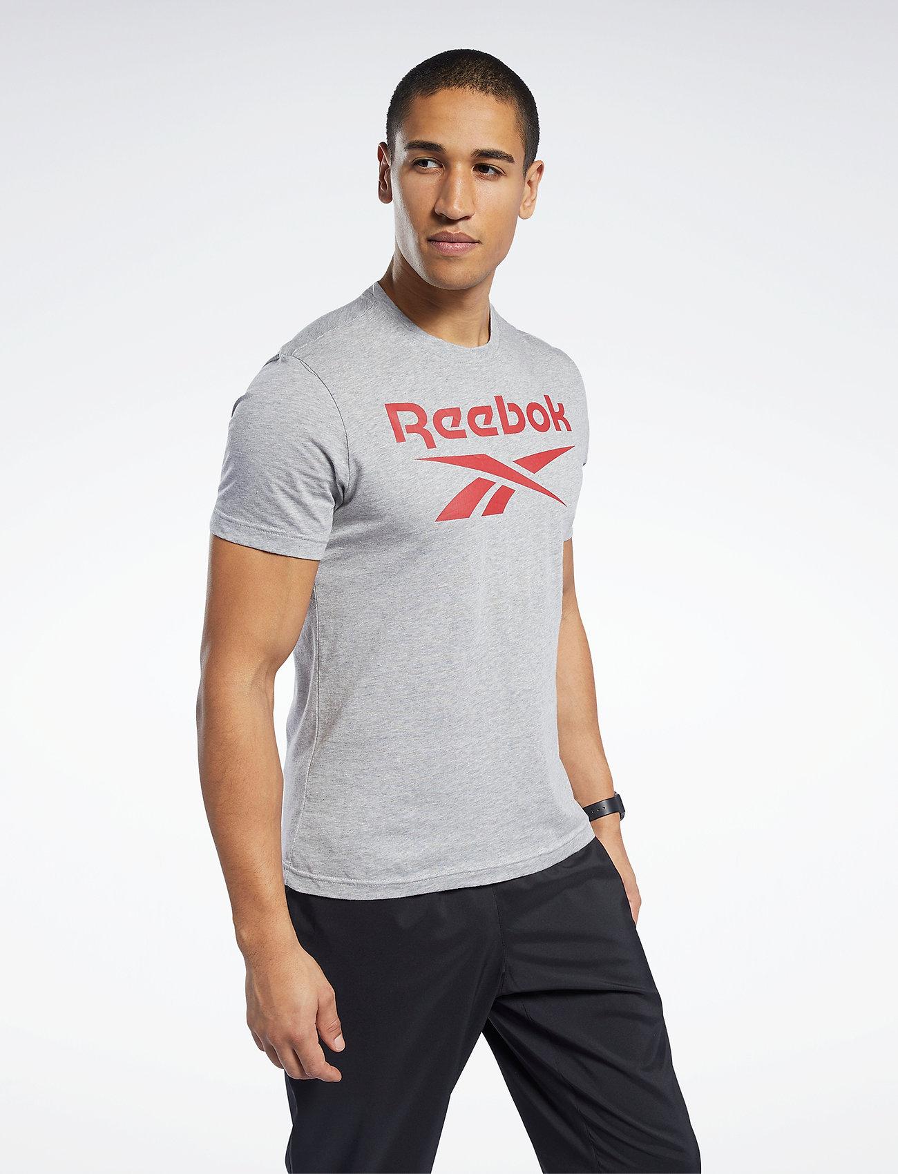 Reebok Performance - RI Big Logo Tee - t-shirts - mgreyh - 0