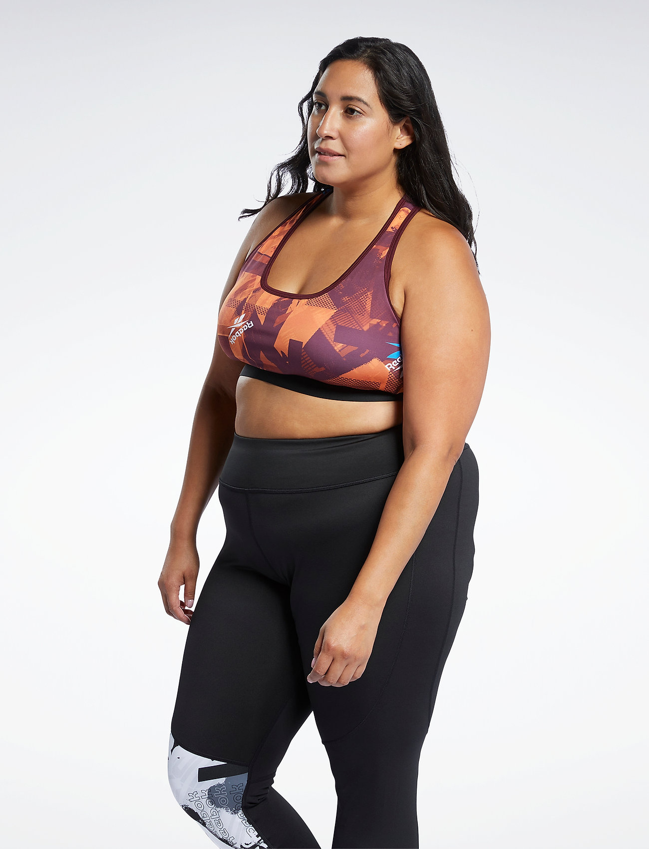 Reebok Performance - WOR MYT AOP Racer Bra - sort bras:high - maroon - 0
