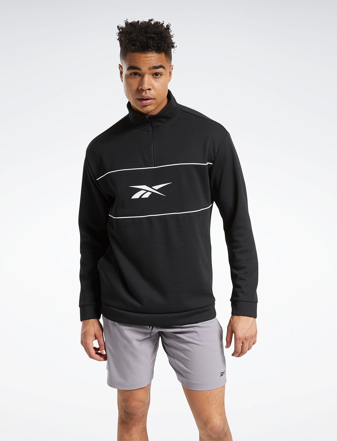 Reebok Performance - WOR DBLKNT QZ - sweaters - black - 0