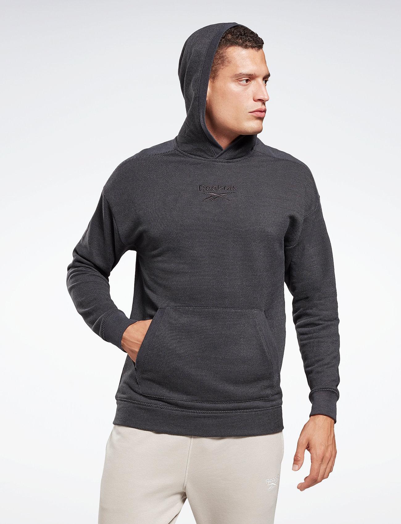 Reebok Performance - Training Essentials Mélange Hoodie - hoodies - black - 0