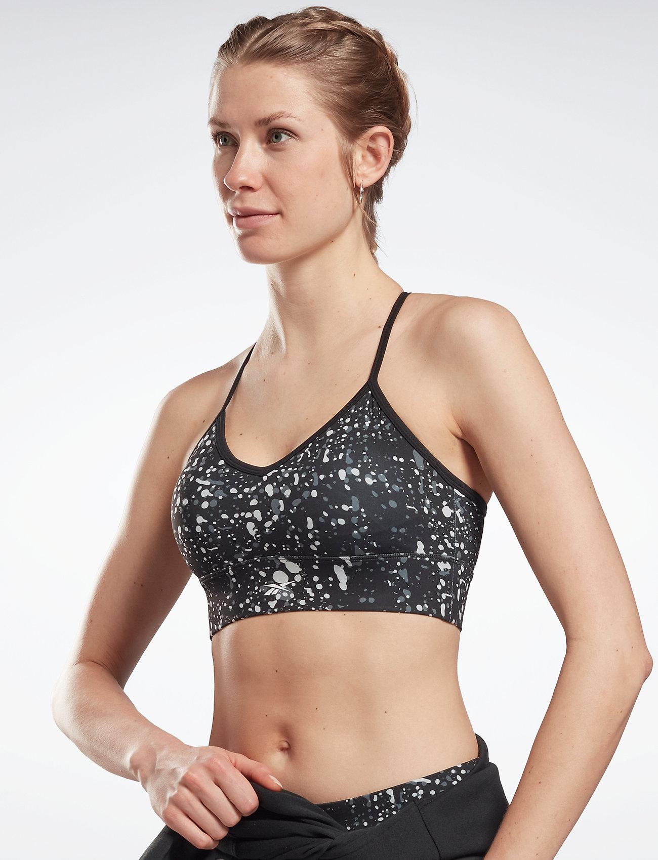 Reebok Performance - WOR AOP TRI Back Bra- Pad - sport bras: medium support - black - 0