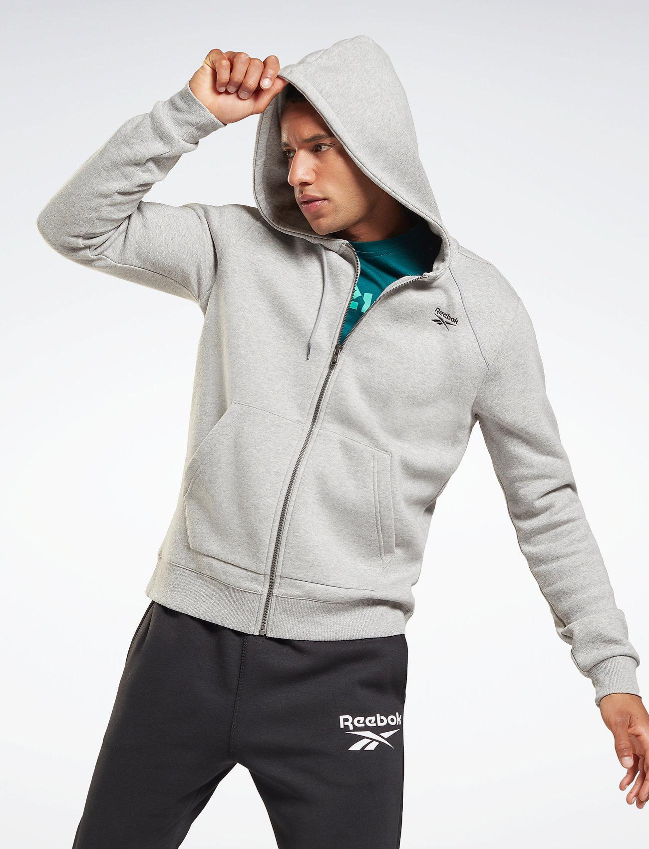 Reebok Performance - RI Fleece FZ HOODIE - hoodies - mgreyh - 0