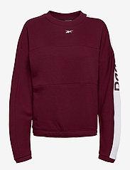 Reebok Performance - WOR MYT Crew - sweatshirts - maroon - 1