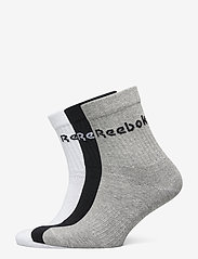 Reebok Performance - ACT CORE MID CREW SOCK 3P - kousen - mgreyh/black/white - 0