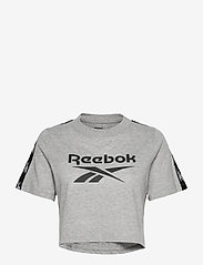 Reebok Performance - Training Essentials Tape Pack T-Shirt W - crop tops - mgreyh - 1