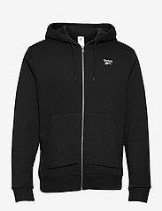 Reebok Performance - RI Fleece FZ HOODIE - hoodies - black - 1