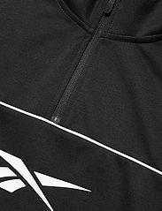 Reebok Performance - WOR DBLKNT QZ - sweaters - black - 4
