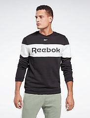 Reebok Performance - Training Essentials Linear Logo Crew Sweatshirt - sweaters - black - 0