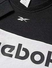 Reebok Performance - Training Essentials Linear Logo Crew Sweatshirt - sweaters - black - 3