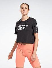 Reebok Performance - Training Essentials Tape Pack T-Shirt W - crop tops - black - 0