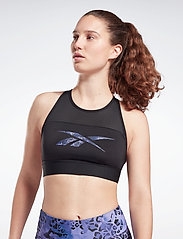 Reebok Performance - Modern Safari Sports Bra W - sportbeh''s: low - black/bougry - 0