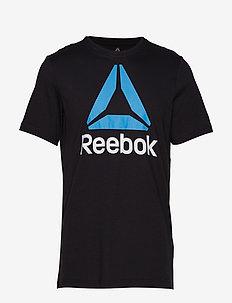 QQR- Reebok Stacked - BLACK/CYAN