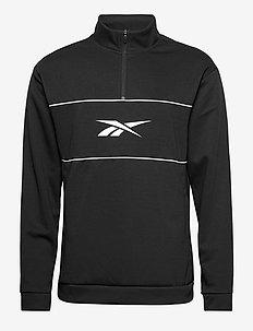 WOR DBLKNT QZ - basic sweatshirts - black