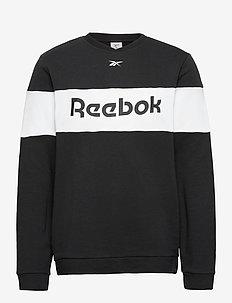 Training Essentials Linear Logo Crew Sweatshirt - basic sweatshirts - black