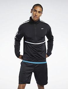 WOR TRICOT 1/4 ZIP - basic sweatshirts - black