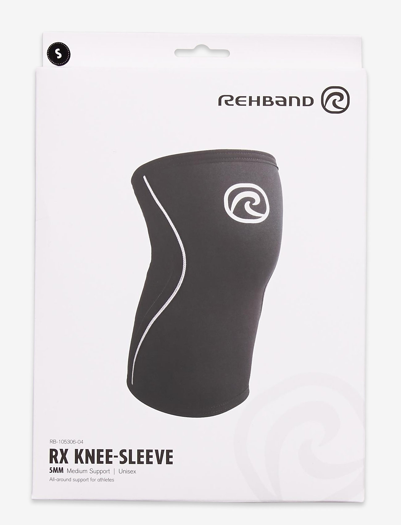 Rehband - RX Knee-Sleeve 5mm - knæ støtte - black - 0