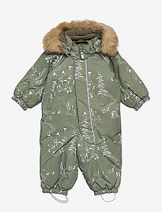 Lappi - snowsuit - greyish green