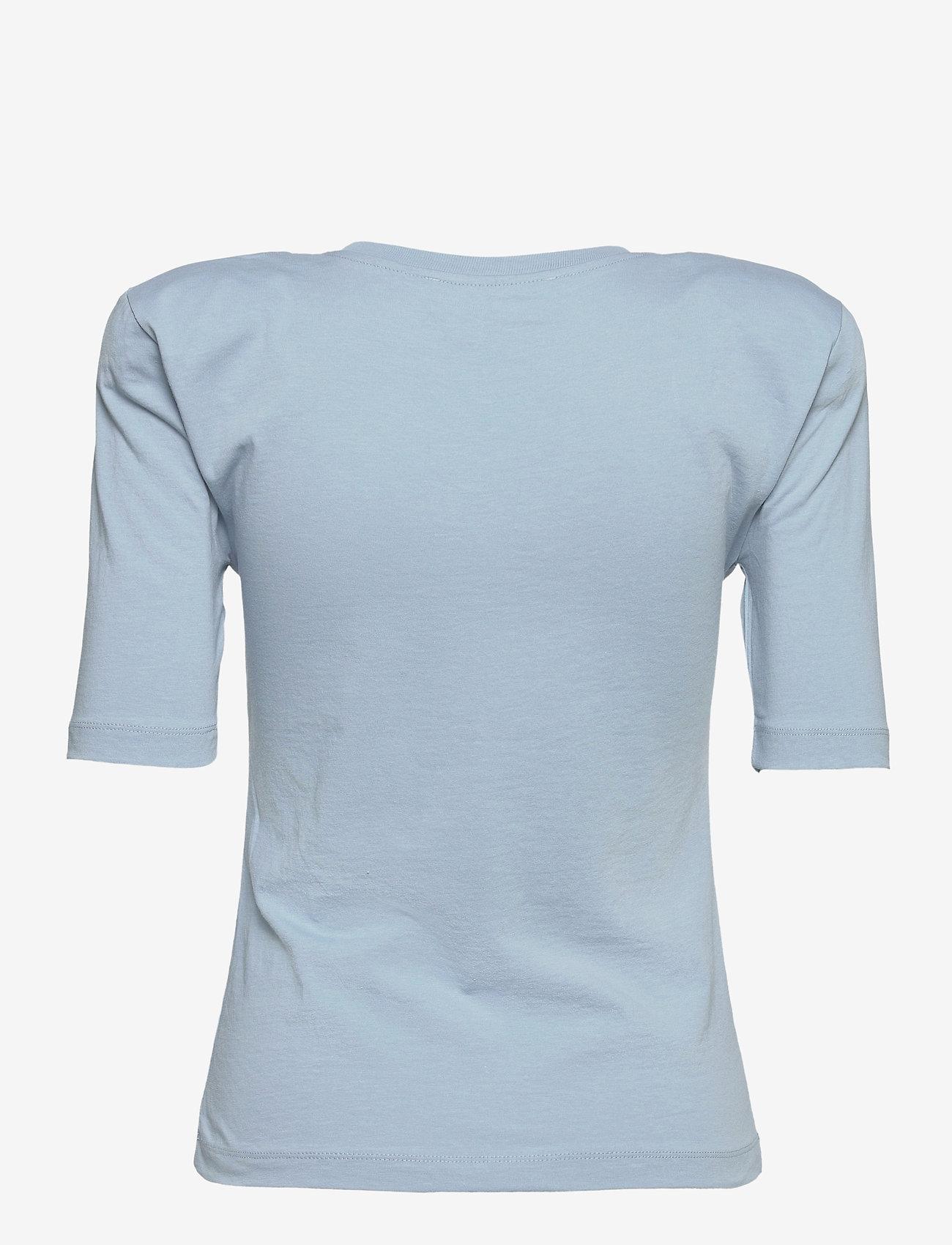 REMAIN Birger Christensen - Xenia O Neck - t-shirts - ashley blue - 1