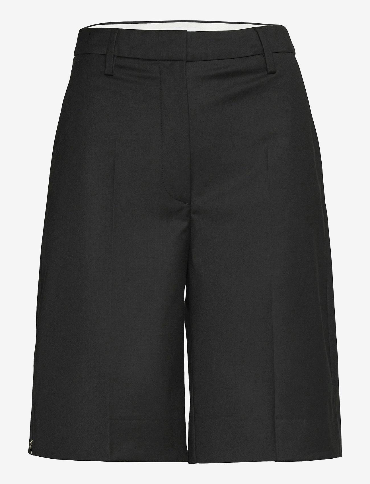REMAIN Birger Christensen - Maisy Shorts - leren shorts - black - 1