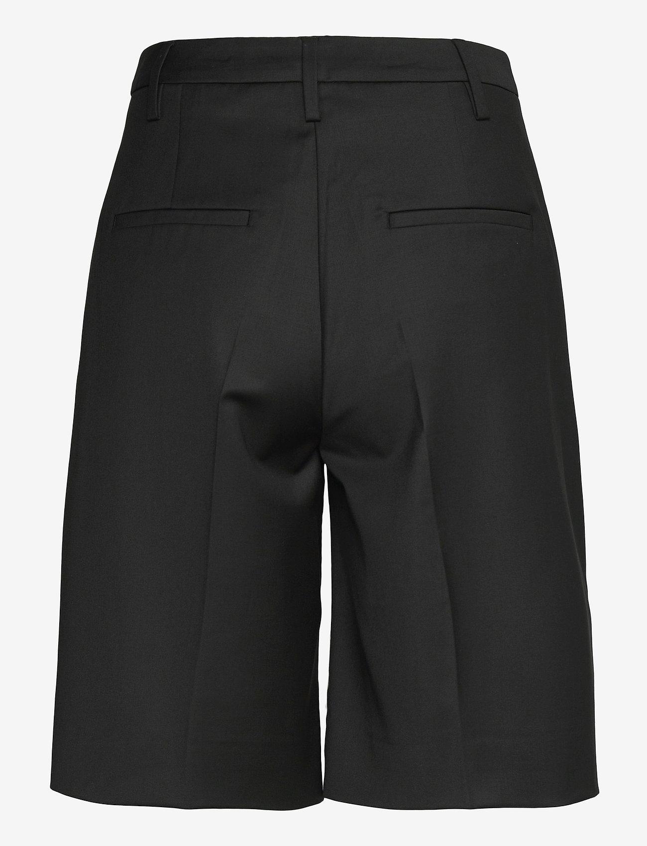 REMAIN Birger Christensen - Maisy Shorts - læder shorts - black - 2