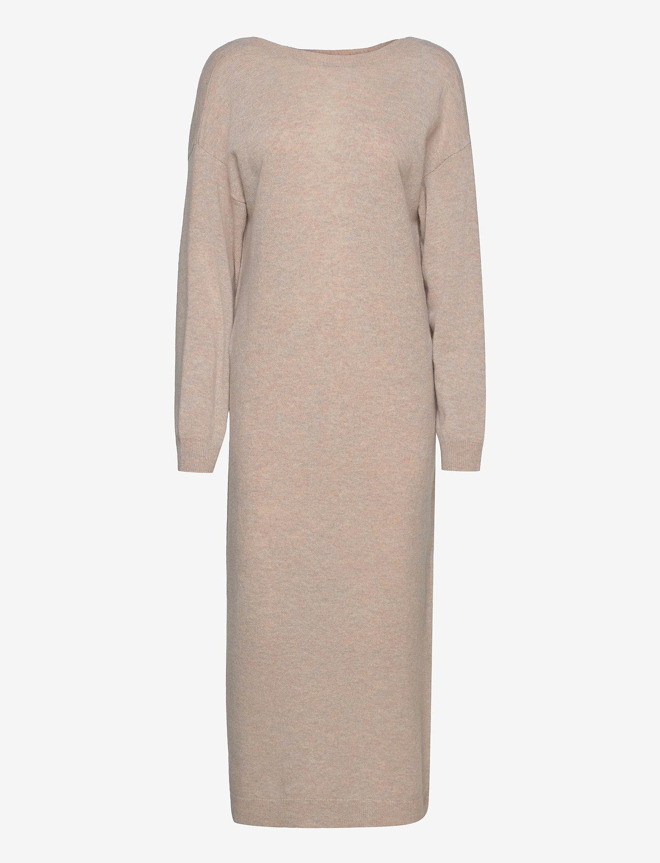 REMAIN Birger Christensen - Valcyrie Open Back Knit Dress - maxi dresses - gravel - 0