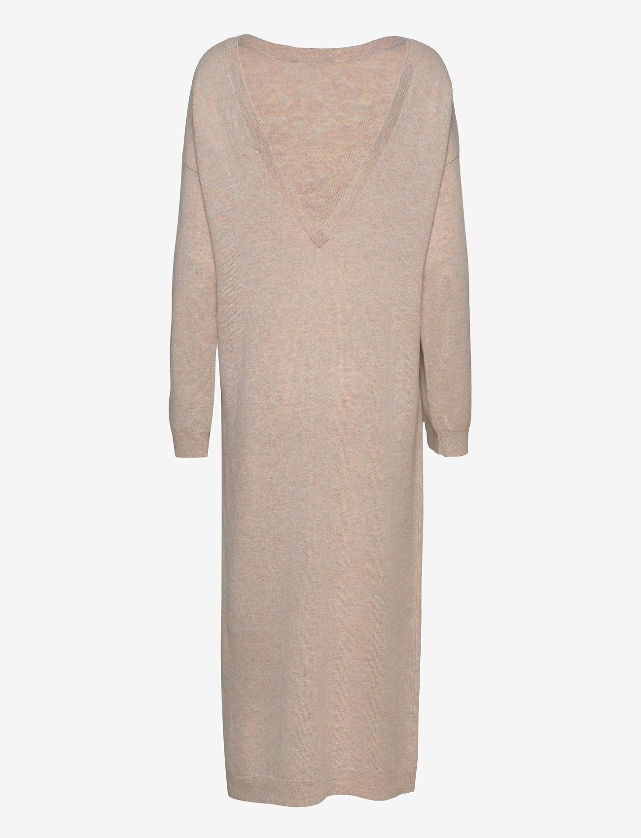 REMAIN Birger Christensen - Valcyrie Open Back Knit Dress - maxi dresses - gravel - 1