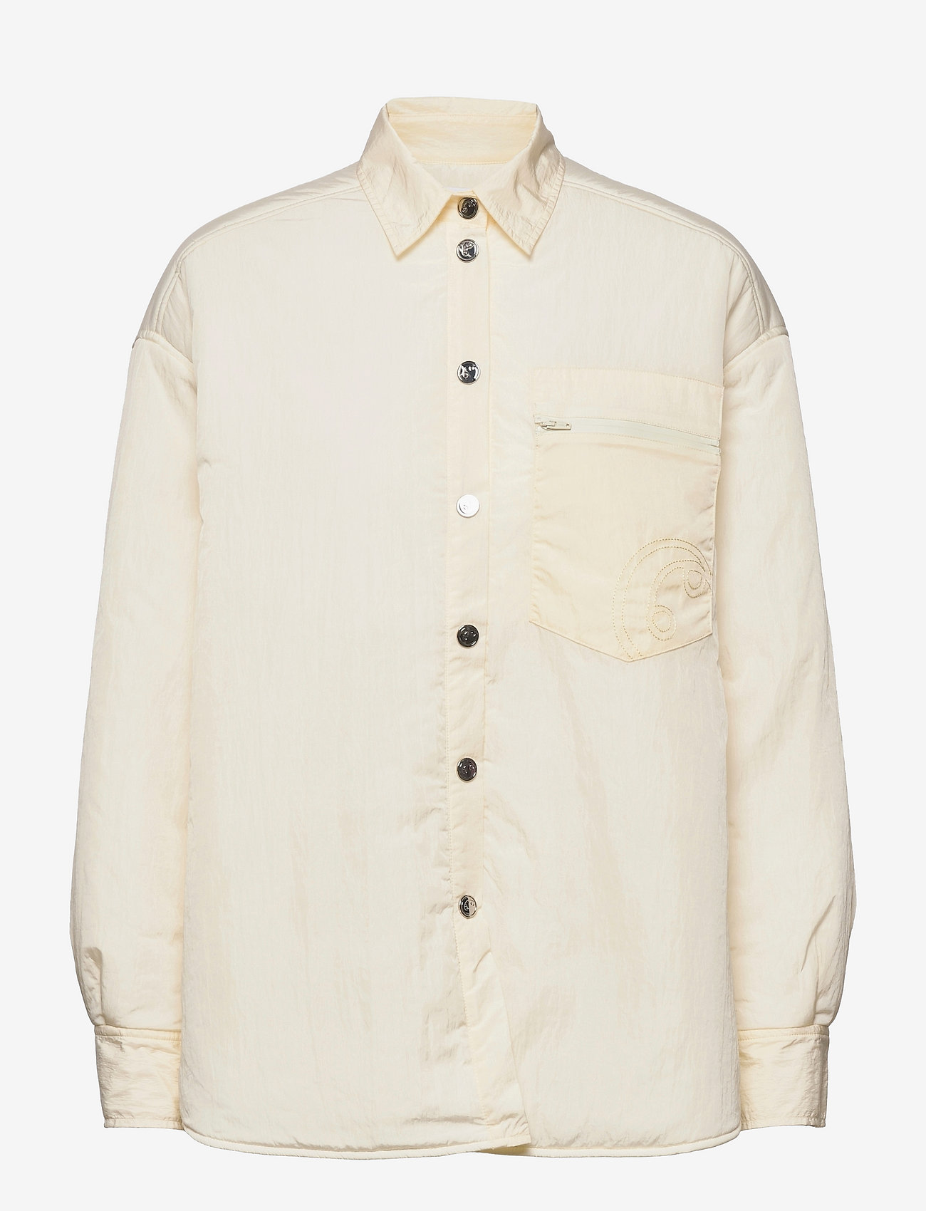 REMAIN Birger Christensen - Evy Shirt - denimskjorter - vanilla ice - 0