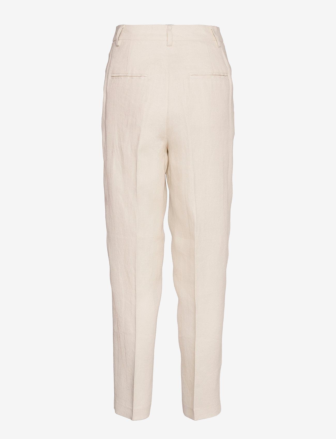 REMAIN Birger Christensen - Paris Pants - bukser med lige ben - white asparagus - 1