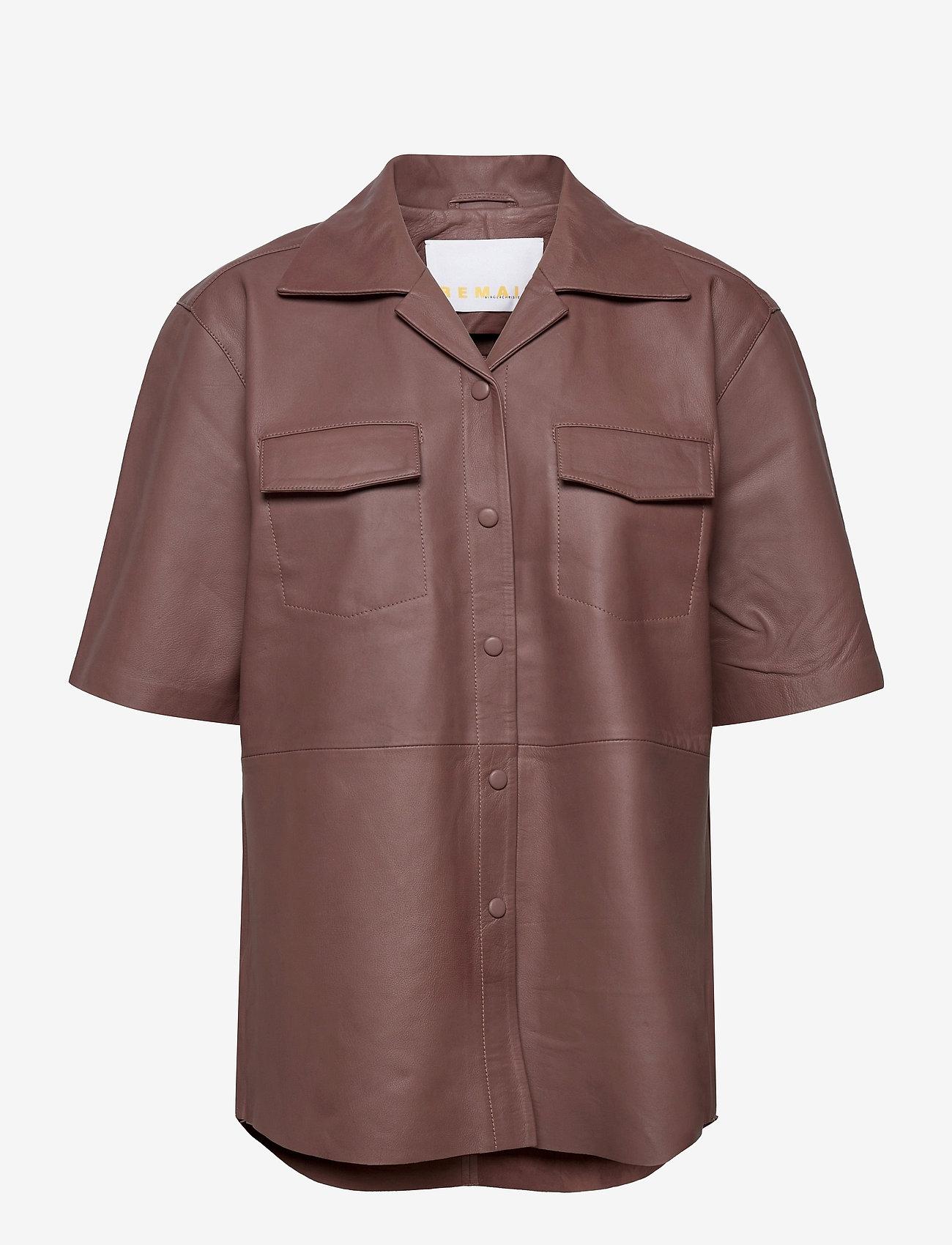 REMAIN Birger Christensen - Jocy Shirt Leather - denimskjorter - fawn - 0