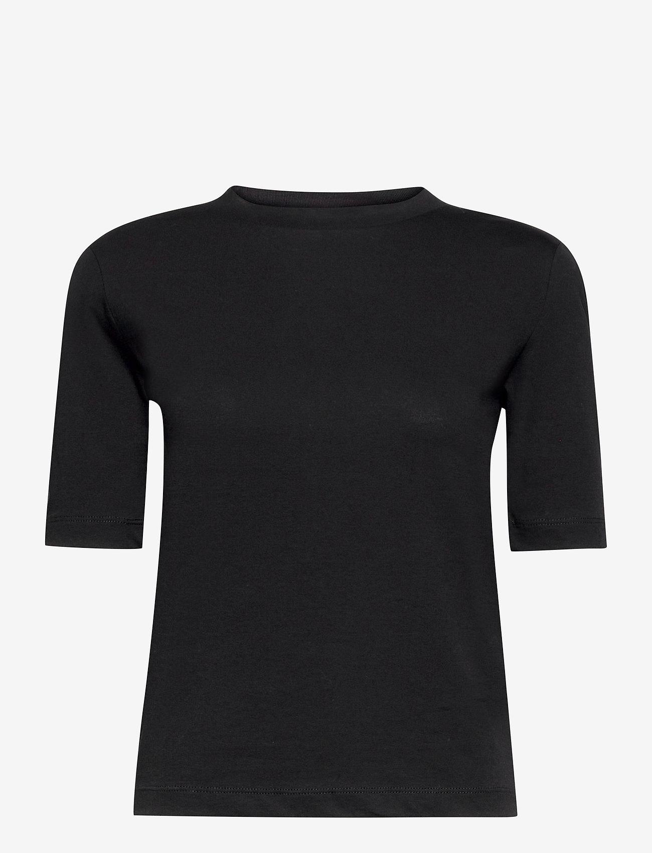 REMAIN Birger Christensen - Xenia O-Neck - t-shirts - black - 0