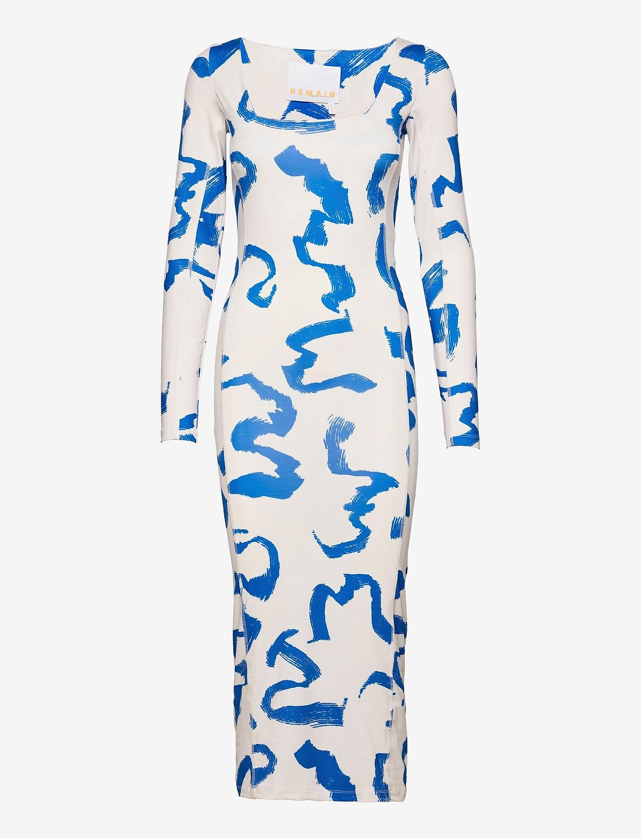 REMAIN Birger Christensen - Aviva Dress - bodycon dresses - vanilla ice comb - 0