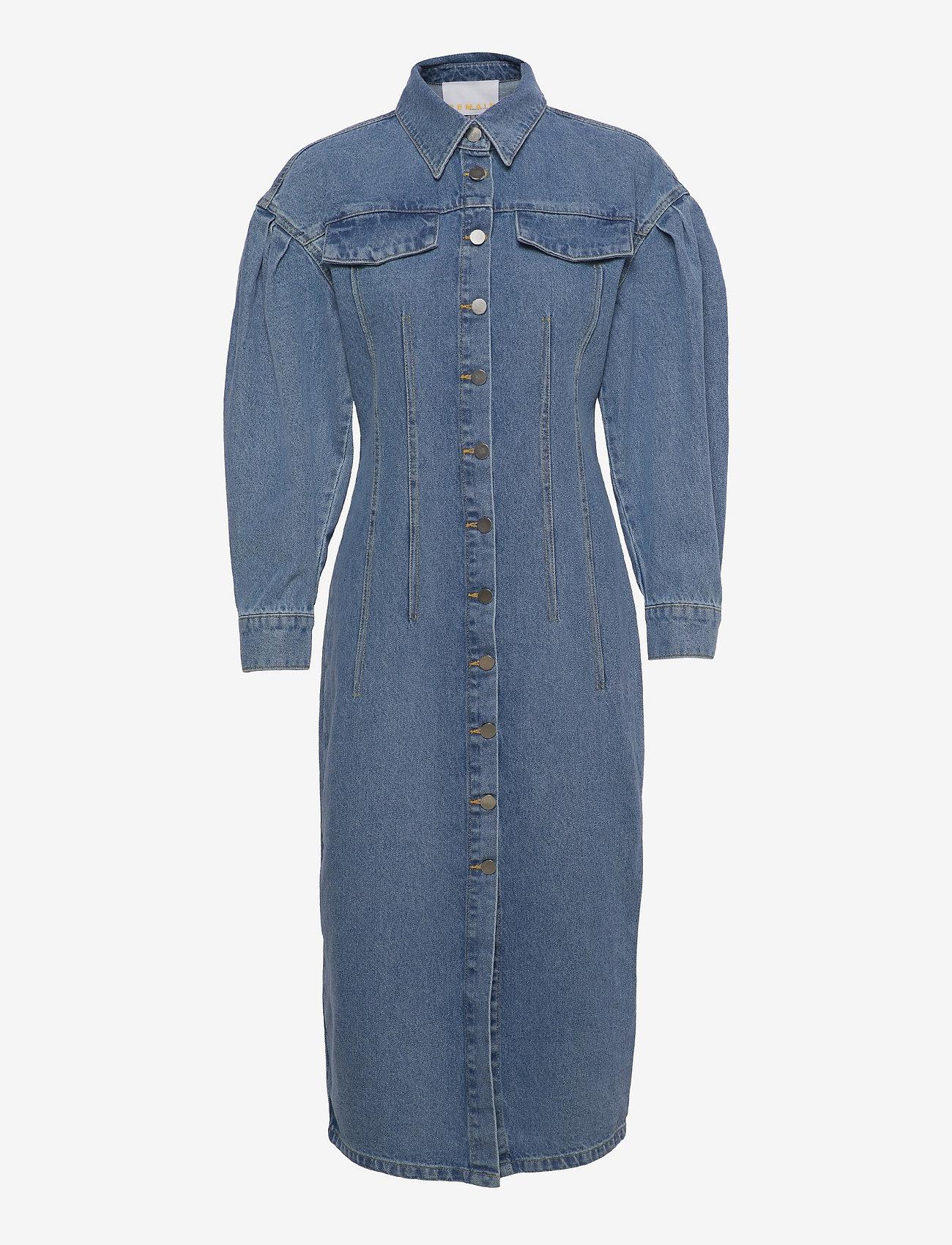 REMAIN Birger Christensen - Edinisa Dress - sommerkjoler - light blue denim - 0