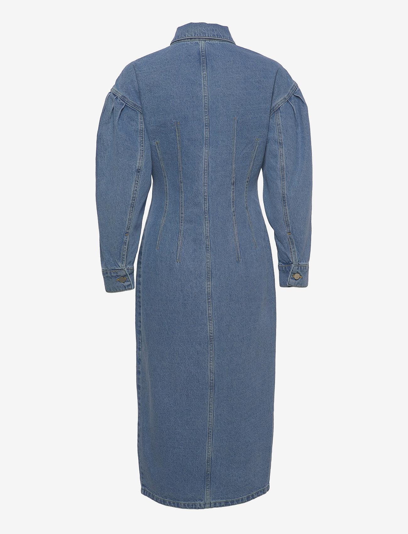 REMAIN Birger Christensen - Edinisa Dress - sommerkjoler - light blue denim - 1