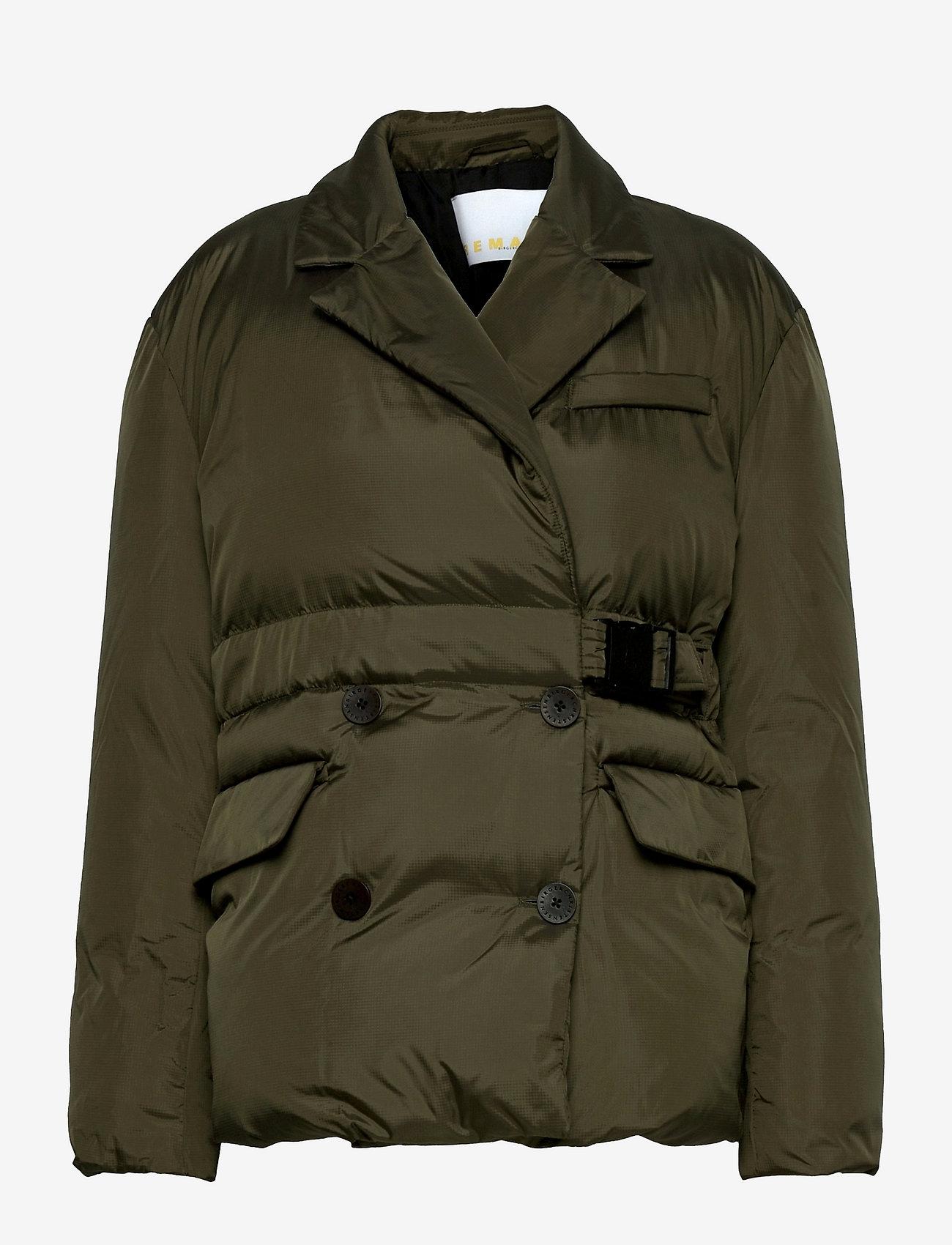 REMAIN Birger Christensen - Dalida Jacket Ribstop - forede jakker - military olive - 0