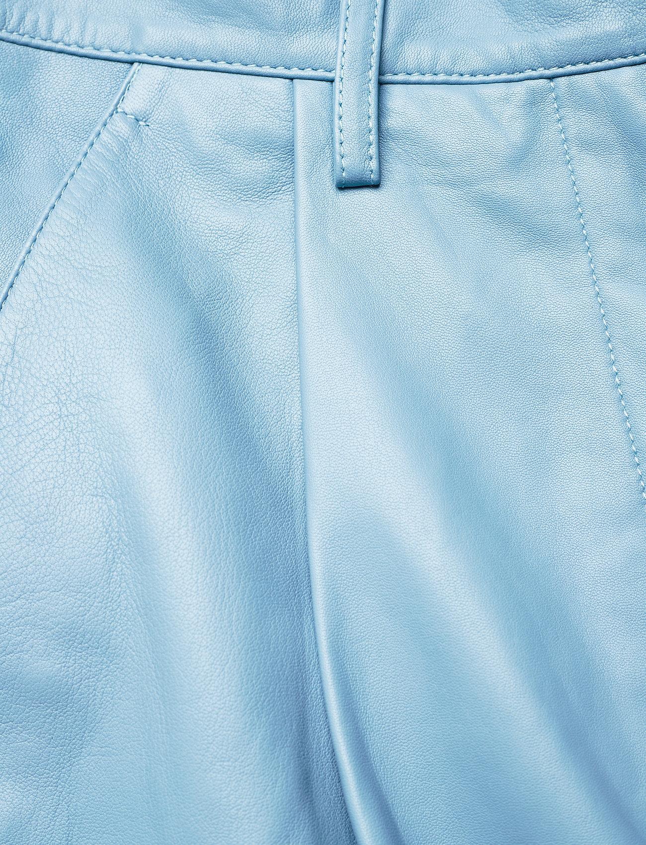 REMAIN Birger Christensen - Cleo Pants - læderbukser - ashley blue - 3