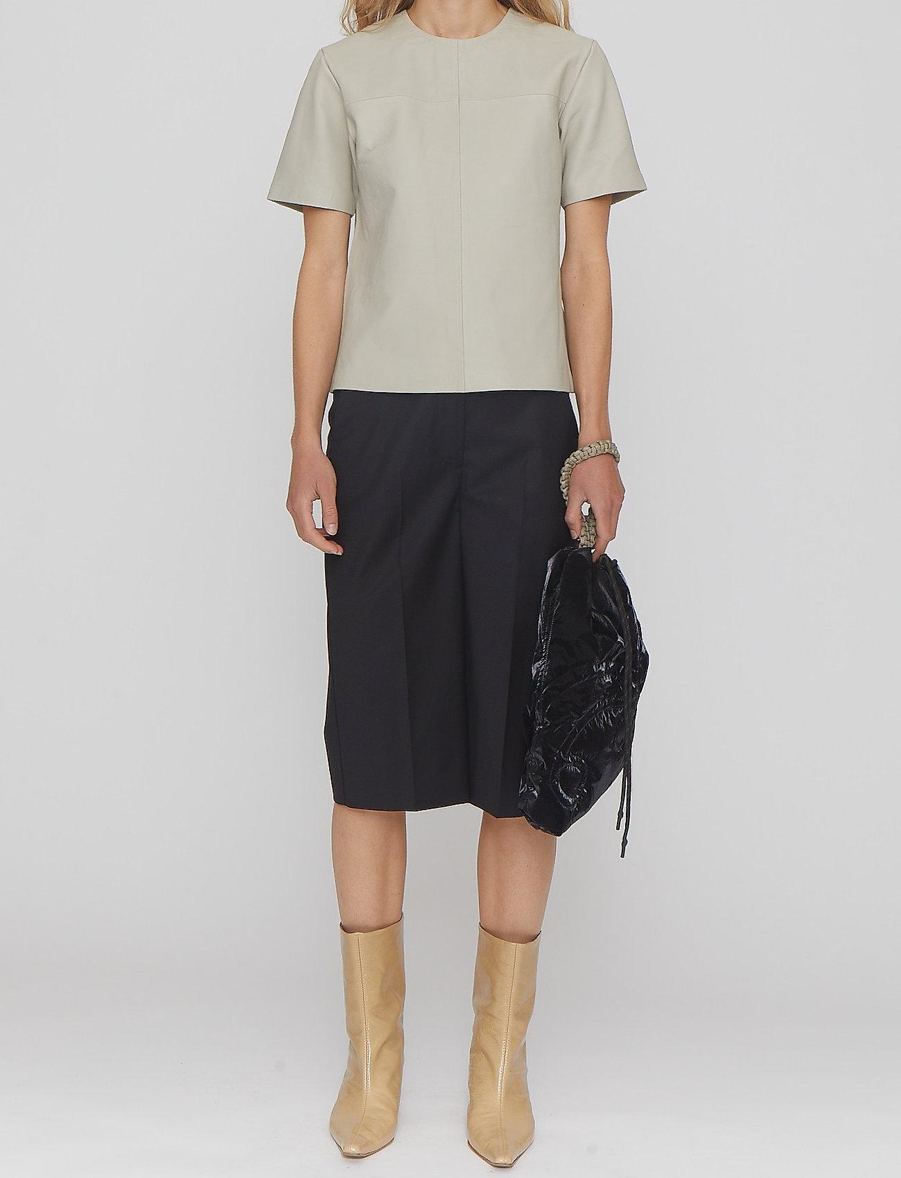 REMAIN Birger Christensen - Maisy Shorts - leren shorts - black - 0