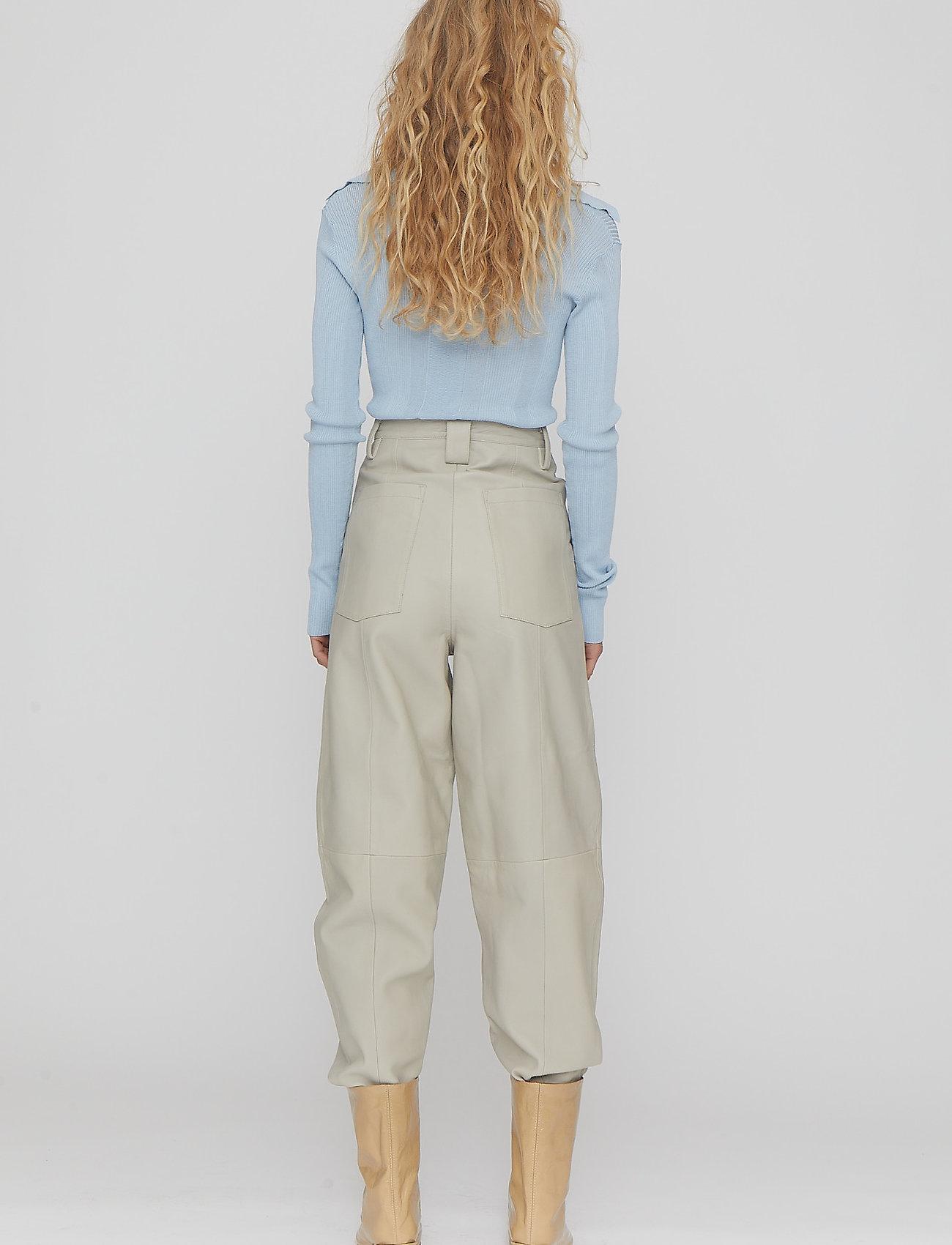 REMAIN Birger Christensen - Nadia Pants - bukser med lige ben - white asparagus - 4