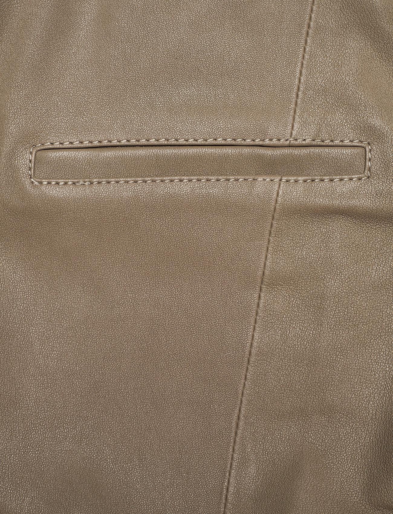 REMAIN Birger Christensen - Floral Pant Leather - læderbukser - simply taupe - 2