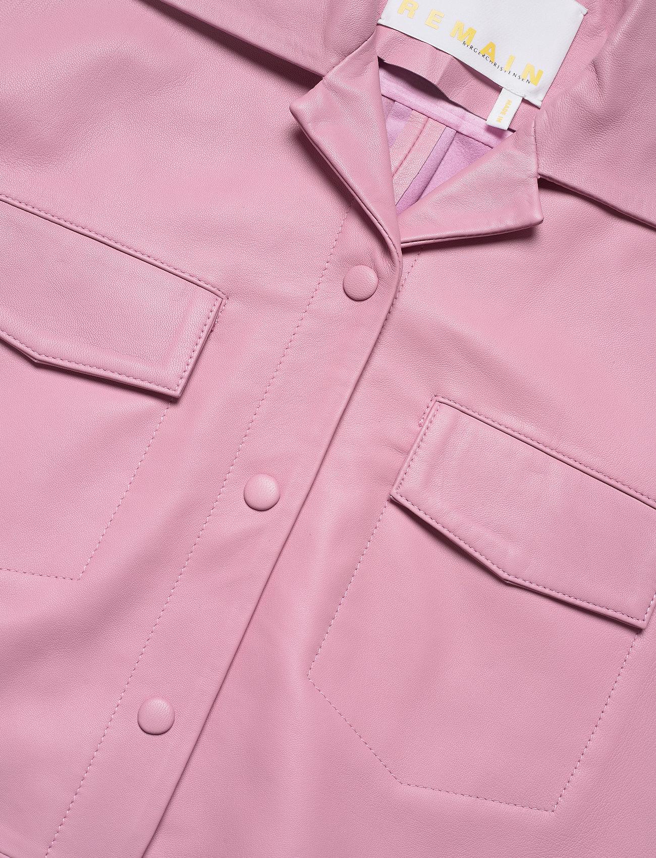 REMAIN Birger Christensen - Jocy Shirt Leather - denimskjorter - pink lavender - 2