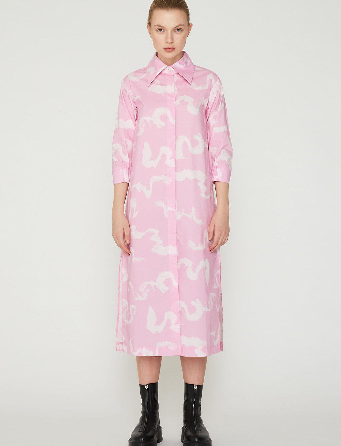 REMAIN Birger Christensen - Silja Dress - summer dresses - orchid ice comb - 0