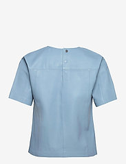 REMAIN Birger Christensen - Audrey Shirt - kortærmede bluser - ashley blue - 1