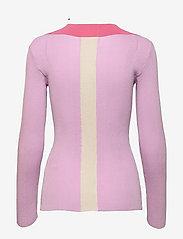 REMAIN Birger Christensen - Joy Top - strikkede toppe - pink lavender comb - 1